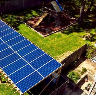 10 kW Solar Pergola - Hixson TN