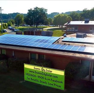 Scenic City Solar's Big Green Sign!