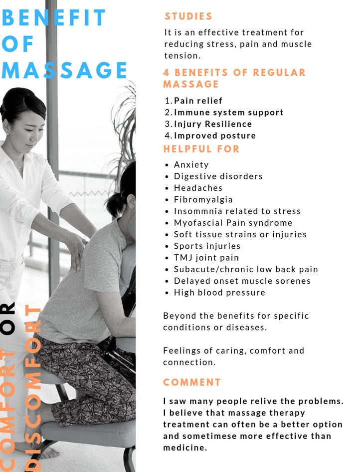 Benefit of massage