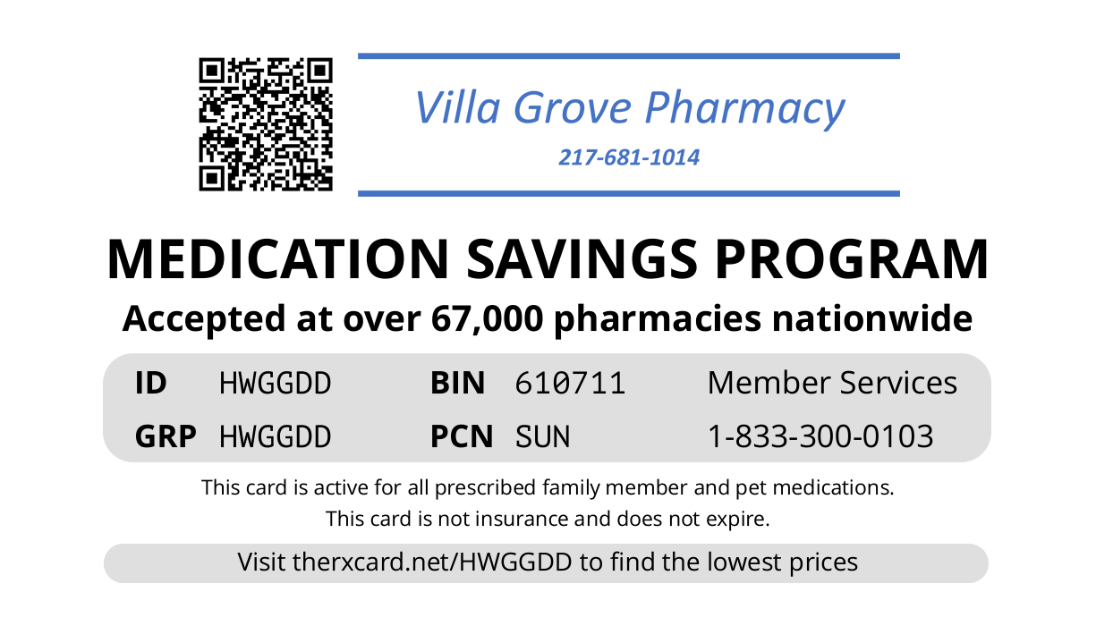 Villa Grove Card
