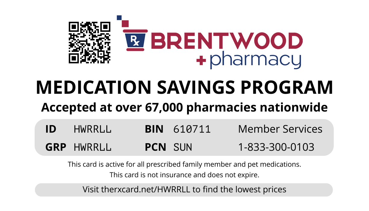 Brentwood Rx Card