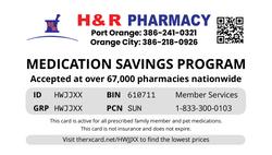 H&R PHARMACY CARD