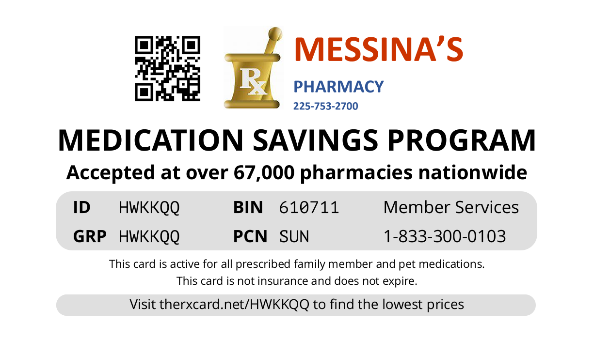 Messina Rx Card