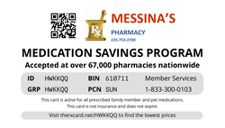 Messina Rx Card