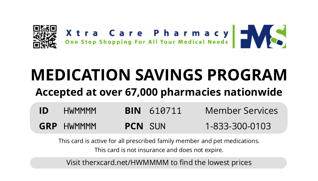 XtraCare Pharm card