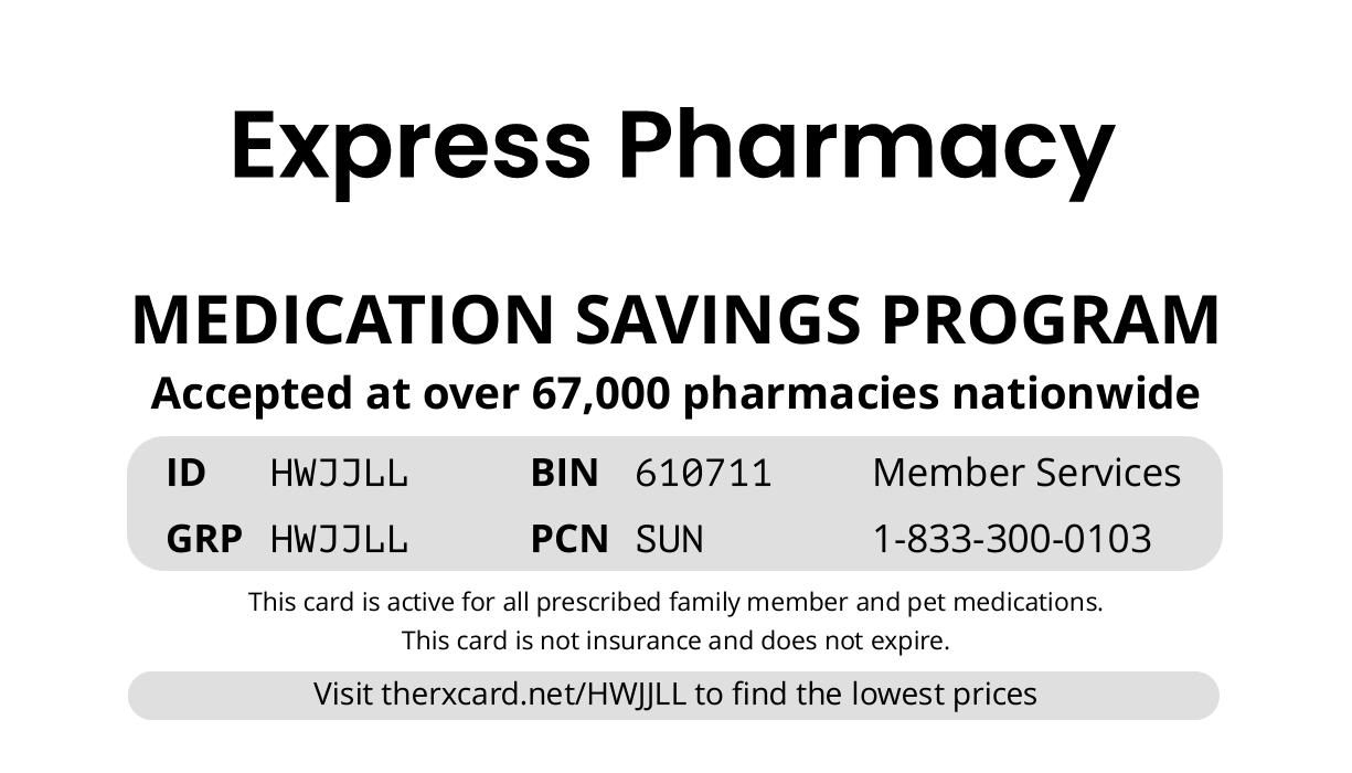Express Pharmacy Card