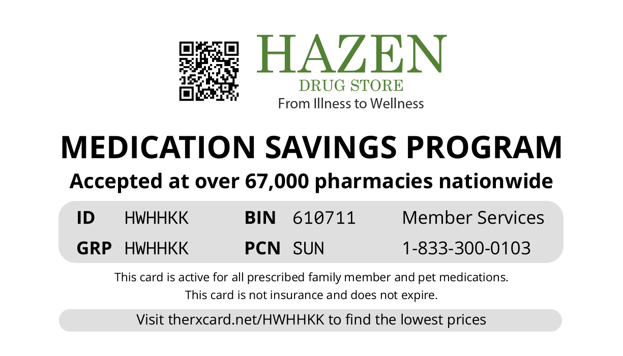 Hazen Drug Card
