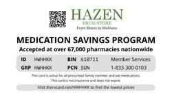 Hazen Drug Card