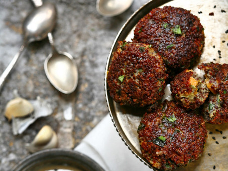 Israeli Falafel with Tahini Dressing