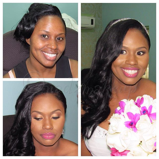 Gorgeous bride #weddingsinjamaica #nadzmakeup #makeupartistinjamaica #jamaicanmakeupartist #royalblu