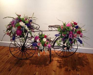 Wrought Iron Bike w/Flowers
