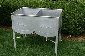 Galvanized Double Barrel Beverage Server
