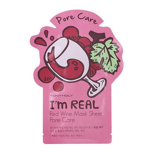 ( 10PCS) I AM RED WINE MASK SHEET - PORE CARE