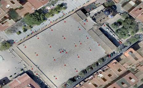UAV, Laser Scanner y Fotorgrametría  para modelado 3D. Plaza de Silos de Burjassot. Valencia, España