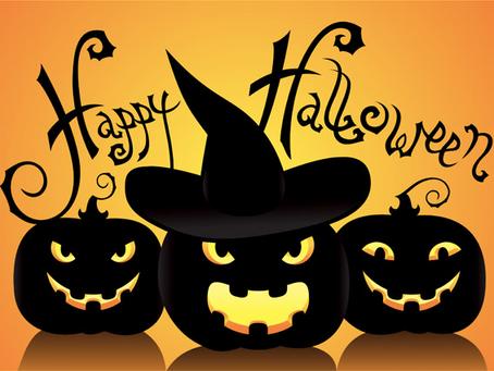 October 31st we will be closing at 12:00 P.M.