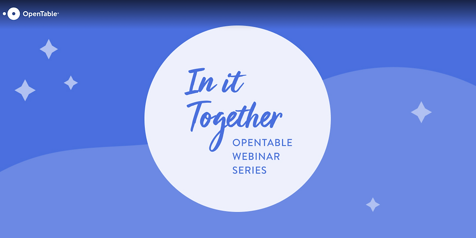 [Slated] OpenTable In It Together Web Series: Restaurants in Disaster Relief