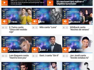 Las canciones que aspiran a representar a España en Eurovisión 2017