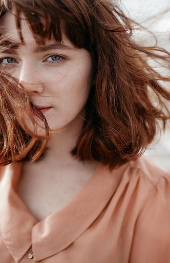 Wind in haar Haar