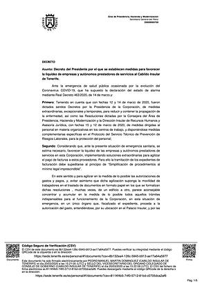 DECRETO MEDIDAS LIQUIDEZ EMPRESAS Y AUTONOMOS PRESTADORES DE SERVICIOS A...