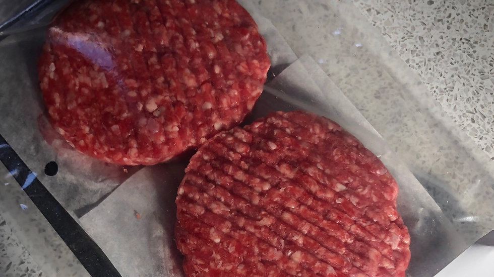2 x Red Ruby beef burgers