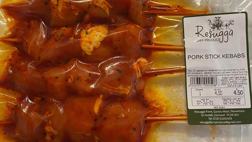 Pork stick kebabs