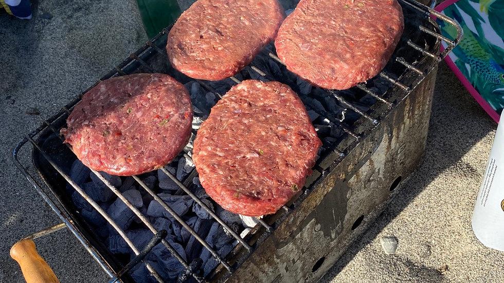 4x 4oz CHILLI beef burgers
