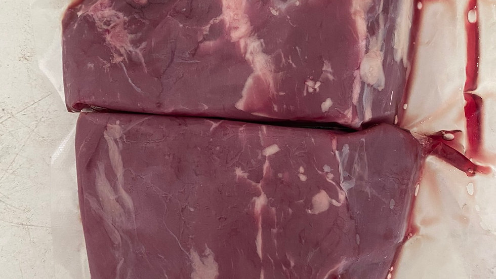 2 x XL red ruby fillet steak