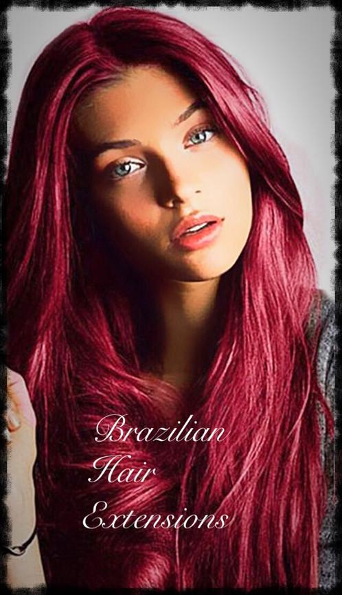 Peruvian Wine Red Burgundy Hair