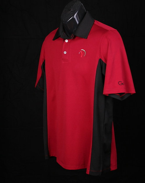 Men's  Elite Golf Shirt w/black color block