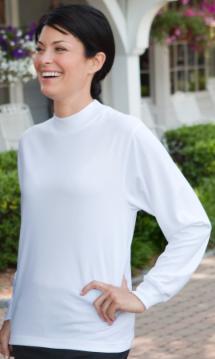 Women's Mock Neck Long Sleeve #20260713