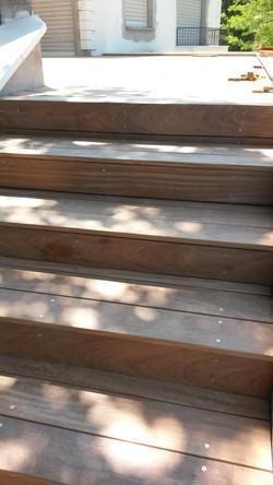 Marches d'escalier en lame de Cumaru
