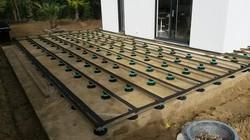 Terrasse sur plots réglables