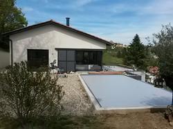 Terrasse drainée et piscine