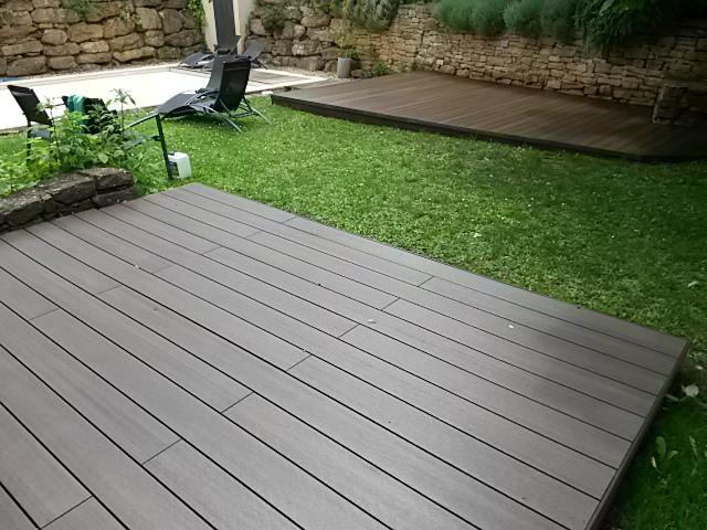 Terrasse composite  Rhône