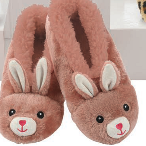 Furry Bunny Slippers by Snoozies