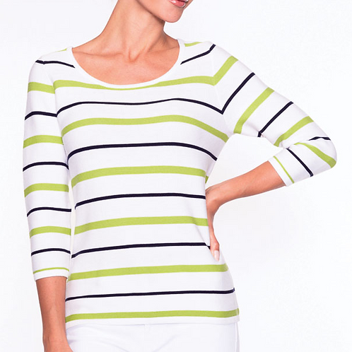 Striped casual pullover from Alison Sheri.
