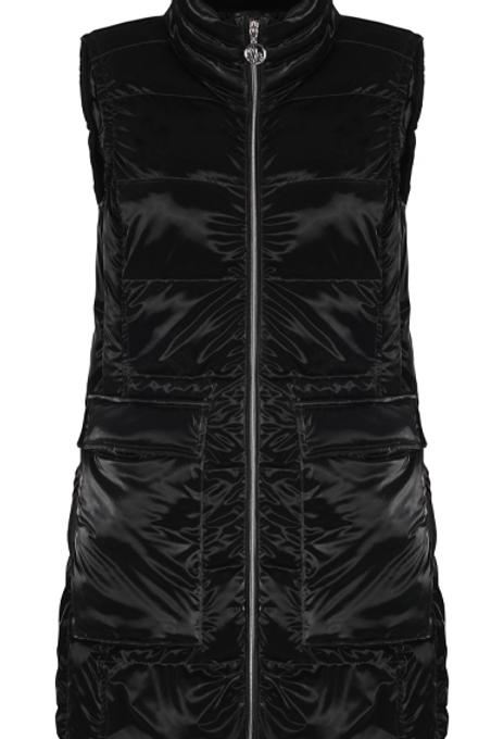 Liquid Look Sleek Long Vest from Dolcezza