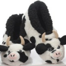 Furry Cow Slippers