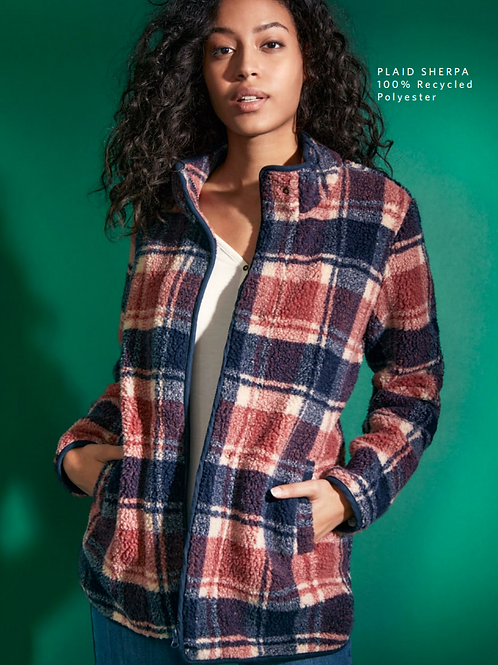 Sherpa Plaid Jacket from French Dressing
