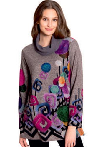 Cowl Neck Pullover Tunic