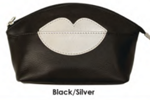 Hot Lips Leather Cosmetic Case