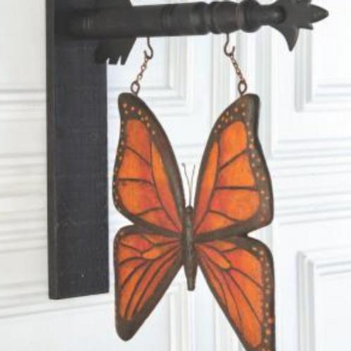 Orange & Black Resin Butterfly
