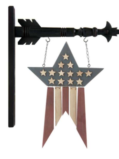 Americana Flag w/Hanging Slats (Wood)