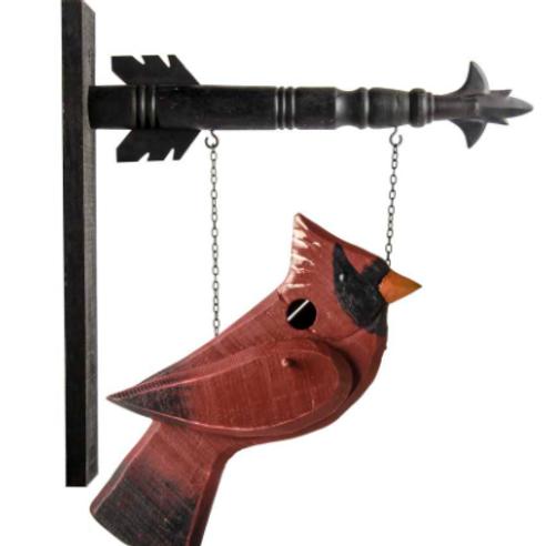 Cardinal Bird House Sign