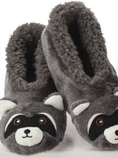 Raccoon slippers by Snoozies