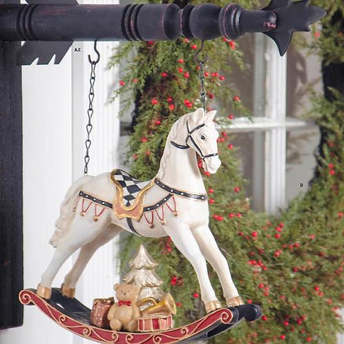 Christmas Rocking Horse (Resin)