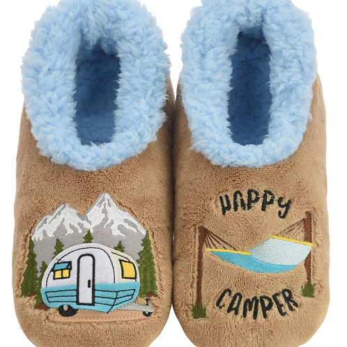 Snoozies Happy Camper Slippers