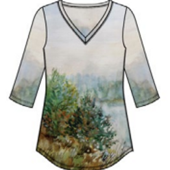 V-Neck Tee from French Dressing