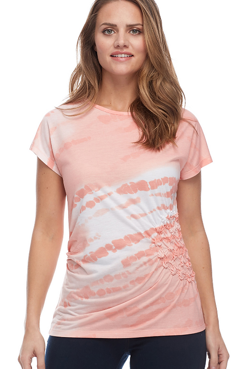 Beautiful Shirred Detail at Waistline on this Tee from FDJ