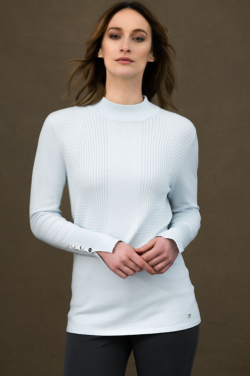 Mock Turtleneck with Detail at Cuff